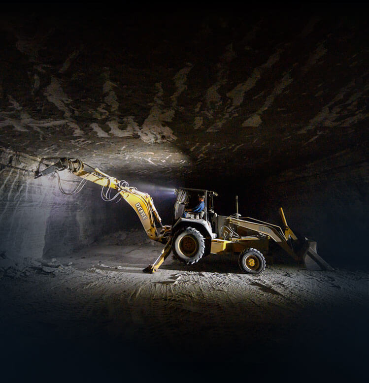 Mobile Image of Excavator in Salt Mine