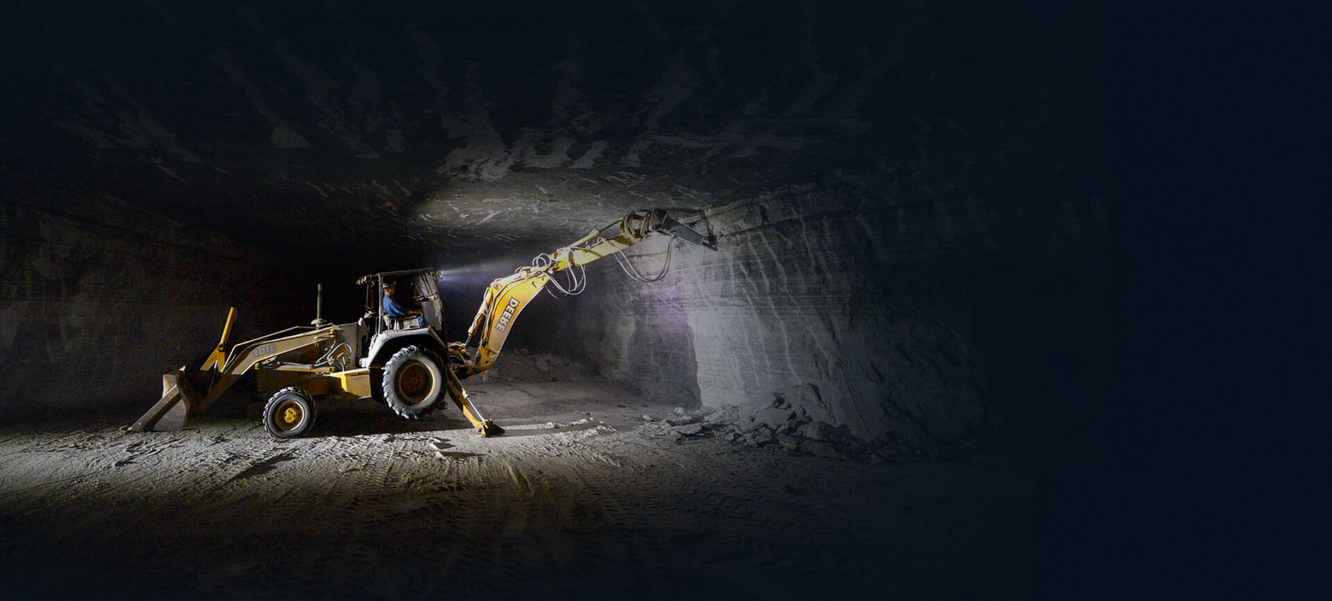 Image of Excavator in Salt Mine